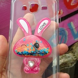 Samsung Galaxy J5 transparant Siliconen hoesje Bunny Bling