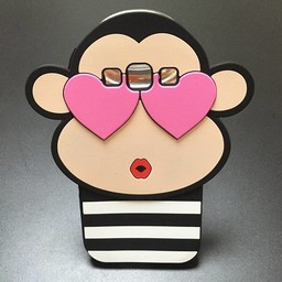 Samsung Galaxy S3 Siliconen hoesjes Monkey in Love