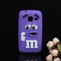 Samsung Galaxy J1 Mini 2016) siliconen M&M hoesjes Paars
