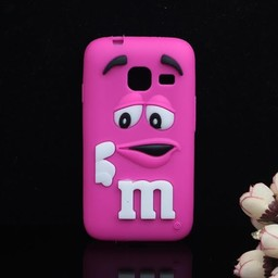 Samsung Galaxy J1 Mini 2016) siliconen M&M hoesjes Rose