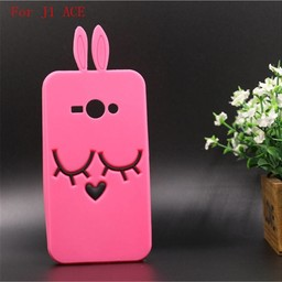 Samsung Galaxy J1 Ace Siliconen hoesjes Bunny