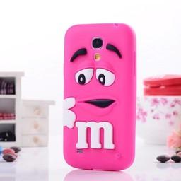 Samsung S4 Mini siliconen hoesje M&M rose