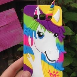 Samsung Galaxy Grand Prime siliconen hoesje Rainbow Unicorn 1