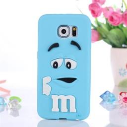 Samsung Galaxy A3 (2016) siliconen bescherm hoesje M&M blauw