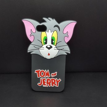 Iphone 5(S) en 5C Siliconen hoesje Tom and Jerry 1