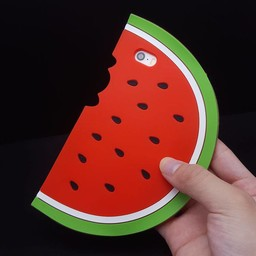 Iphone 5(s) en 5C Siliconen watermeloen hoejes rood