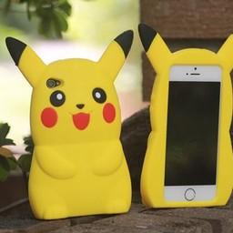 Iphone 5(S) en 5(C) Siliconen hoesje Pickachu