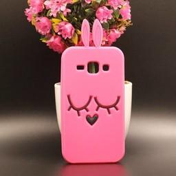 Samsung Galaxy J1 Siliconen hoesje Bunny Pink