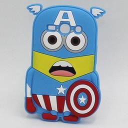 Samsung Galaxy Core 2 Siliconen hoesje Minion Captain America