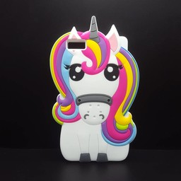 Huawei Ascend P8 Lite Siliconen hoesje Rainbow Unicorn
