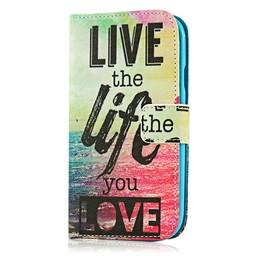Samsung S3 PU lederen  Wallet Live the life you love