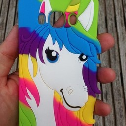 Samsung Galaxy J5 (2016) siliconen hoesjes Rainbow Unicorn