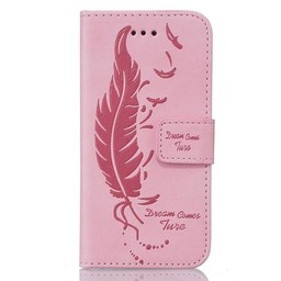 Samsung S5 PU lederen hoesje Wallet Dream comes sure ROSE