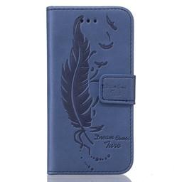 Samsung S5 PU lederen hoesje Wallet Dream comes sure Blauw