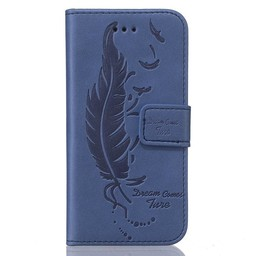 Samsung S5 PU lederen  Wallet Dream comes sure Blauw