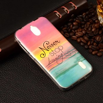 Huawei Ascend Y625 TPU hoesjes Never stop dreaming