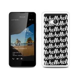Microsoft Lumia 550 hoesje HELLO