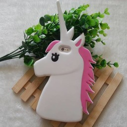 Iphone 5 (S) en 5C Siliconen hoesje Unicorn Wit