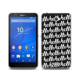 Sony Xperia E4 TPU Hoesje HELLO