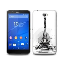 Sony Xperia E4 TPU Hoesje PARIS