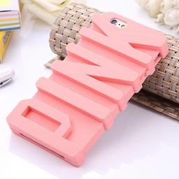 Iphone 5(S) en 5(C) siliconen 3D hoesje PINK Licht rose