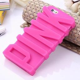 Iphone 5(S) en 5(C) siliconen 3D hoesje PINK rose