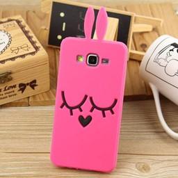 Samsung Galaxy J5 Siliconen hoesje Pink Bunny