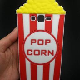 Samsung Galaxy Grand Prime siliconen hoesje Popcorn rood