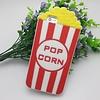 Iphone 4 (S) Siliconen hoesje Popcorn Rood