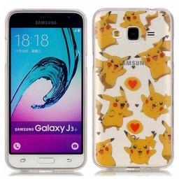 Samsung Galaxy J3 (2016) Transparant TPU Hoesje Picachu