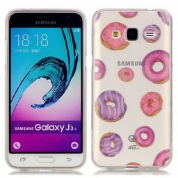 Samsung Galaxy J3 (2016) Transparant TPU Hoesje Donut
