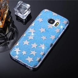 Samsung Galaxy J5 TPU hoesje Stars Blue