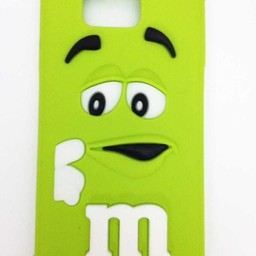 Samsung Galaxy Alpha siliconen hoesje M&M Groen