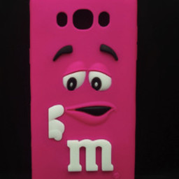 Samsung Galaxy J5 siliconen hoesjes M&M Roze