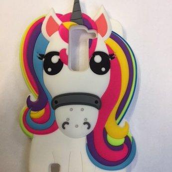 LG K8 hoesje Rainbow Unicorn