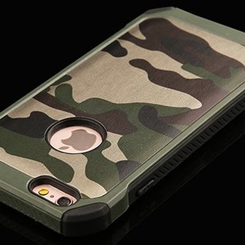 iPhone 6 siliconen  Army Camouflage Groen Hoesje