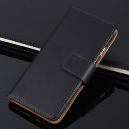 Iphone 6  Wallet  Leer Zwart