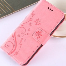 Iphone X Wallet  Leer rose