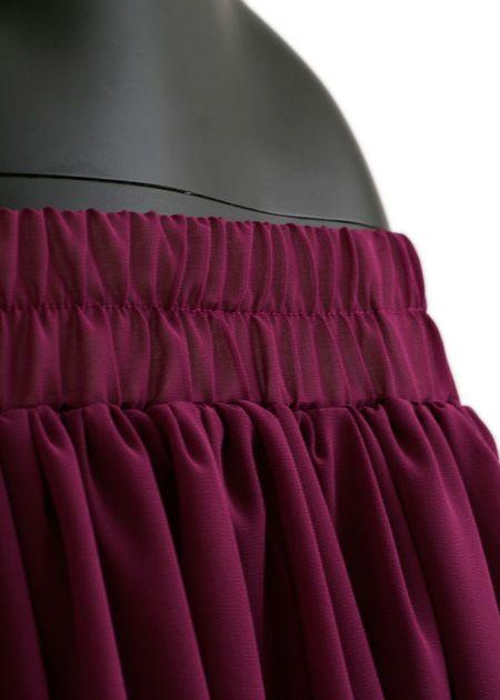Maxi rok classic violetpaars