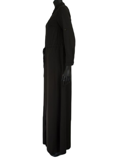 Maxi jurk pebble zwart