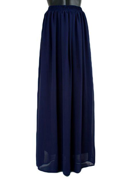 Lange maxi rok donkerblauw