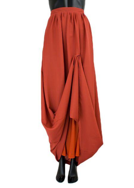 maxi rok monica lang 041 persimmon oranje