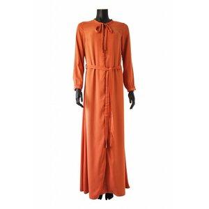 099 Maxi jurk pietra oranje