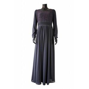 112 Maxi jurk milazo donker grijs