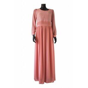 112 Maxi jurk milazo roze