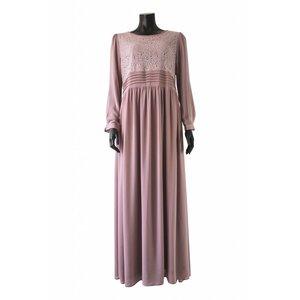 112 Maxi jurk milazo poeder roze