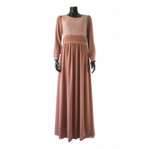 112 Maxi jurk milazo taupe