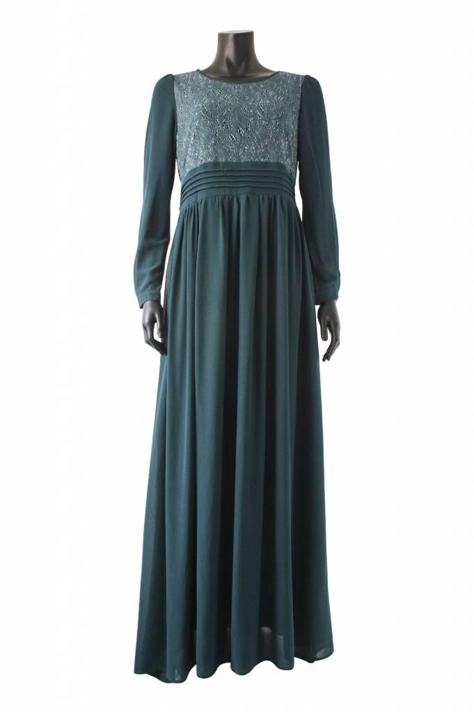 Maxi jurk milazo donkergroen