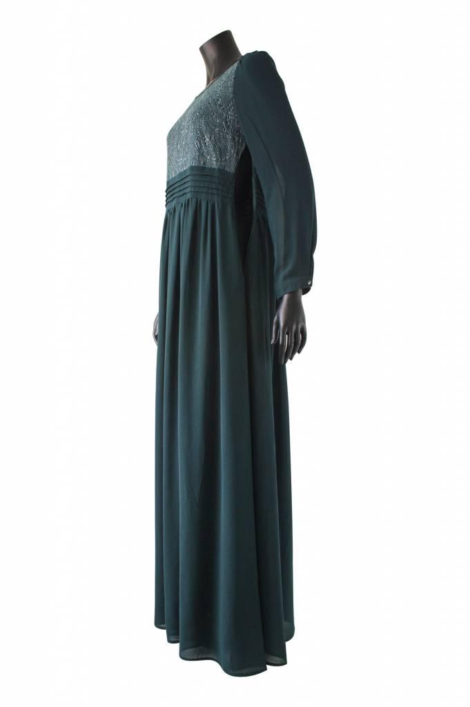 112 Maxi jurk milazo donker groen