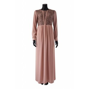 Maxi jurk carrara roze